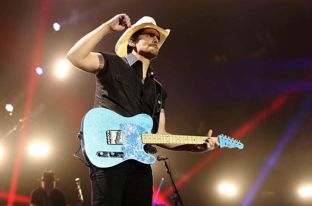 Brad Paisley performs at the O2 Arena on March 10, 2017 in London.
