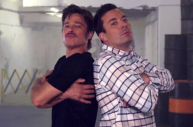 Brad Pitt and Jimmy Fallon breakdancing