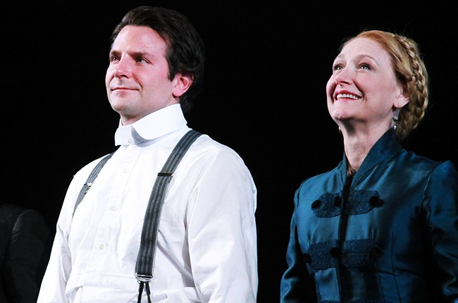 """Bradley Cooper and Patricia Clarkson attend """"The Elephant Man"""" Broadway opening night"""