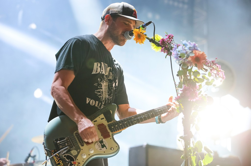 Jesse Lacey of Brand New performs at 2015 Coachella