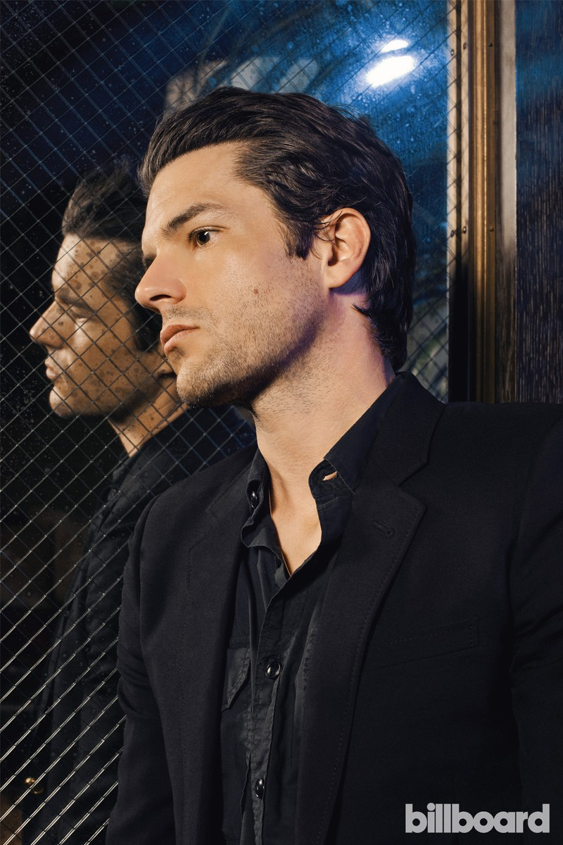 Brandon Flowers photographed June 13 on at Soho Grand Hotel in New York.