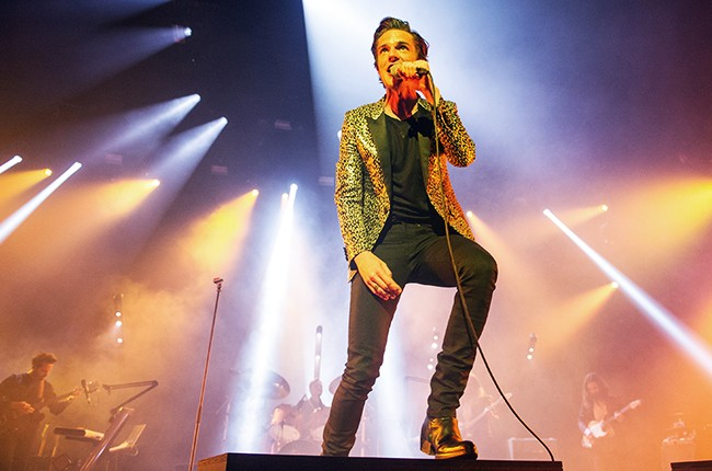 Brandon Flowers performs at O2 Academy Brixton on May 21, 2015 in London