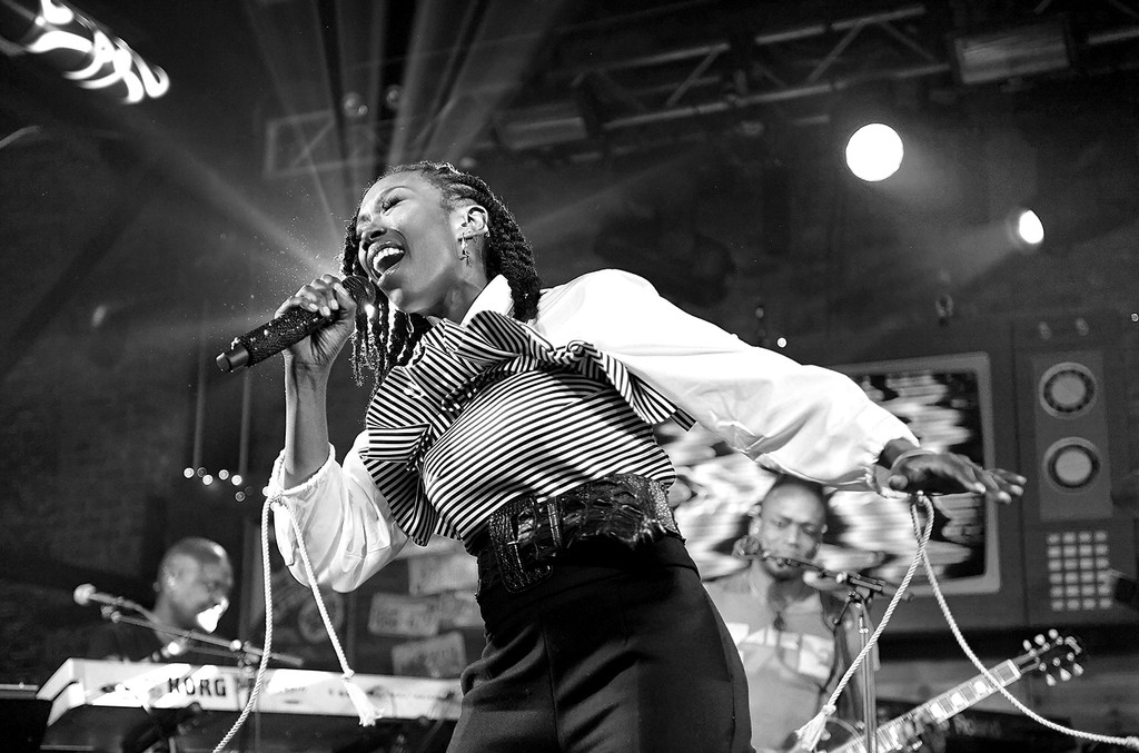 Brandy and The Roots perform during the Budlight Event 2017 SXSW Conference and Festivals on March 18, 2017 in Austin, Texas.