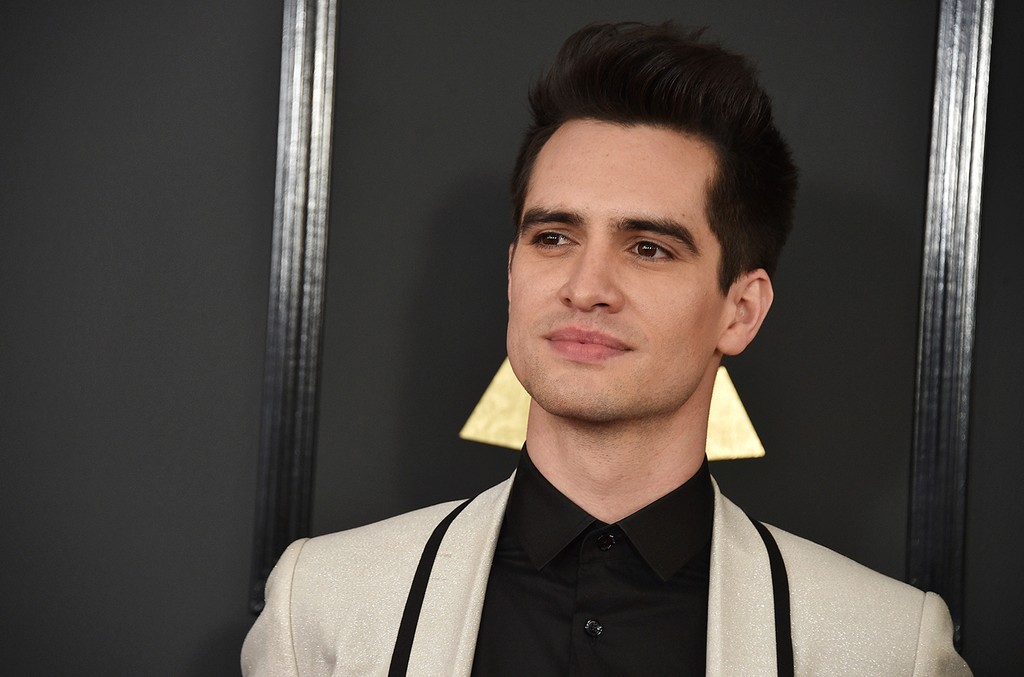 Brendon Urie arrives at the 59th annual Grammy Awards at the Staples Center on Feb. 12, 2017 in Los Angeles.