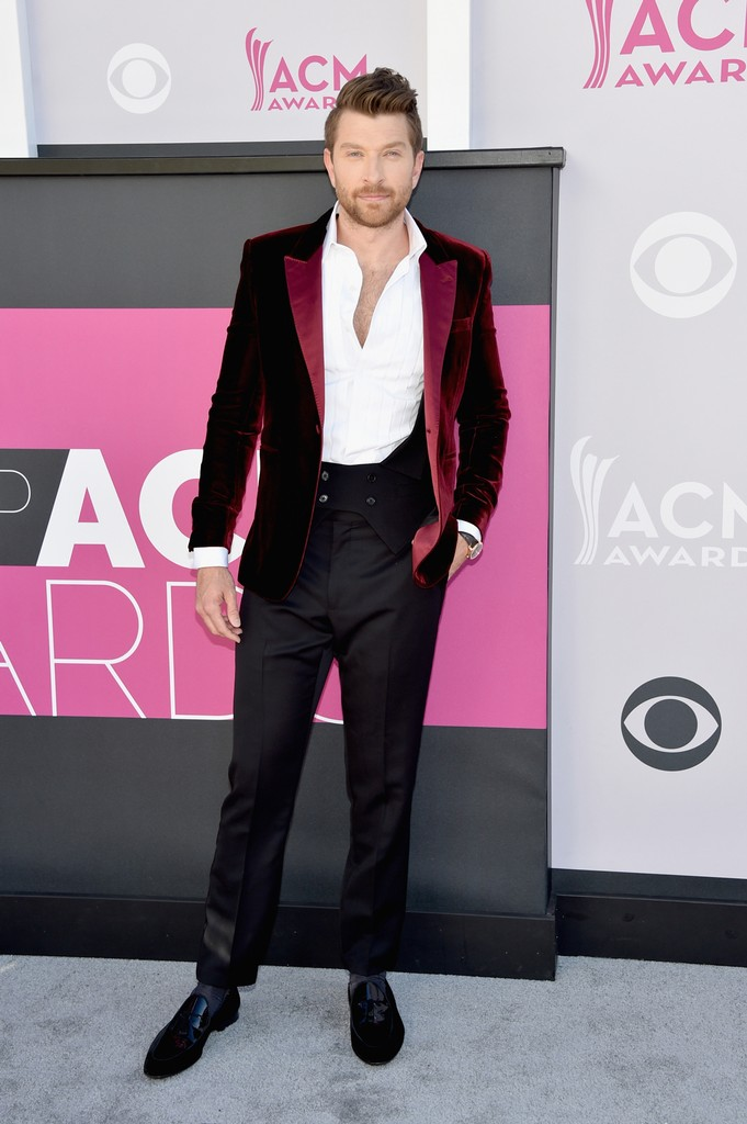 Brett Eldredge attends the 52nd Academy Of Country Music Awards at Toshiba Plaza on April 2, 2017 in Las Vegas.