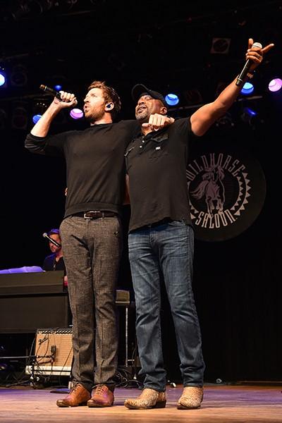 Brett Eldredge and Darius Rucker