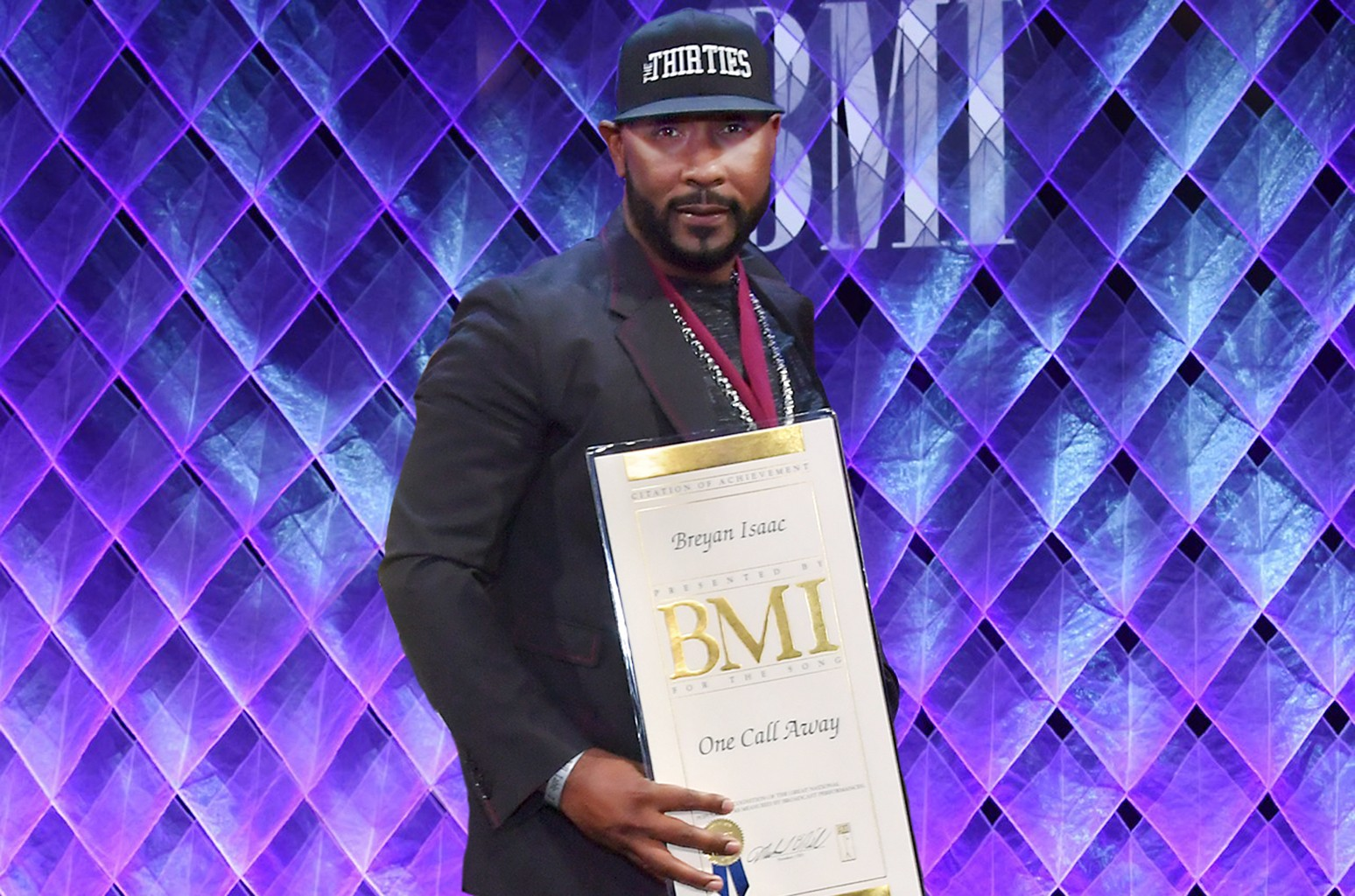 Breyan Isaac arrives at the 65th Annual BMI Pop Awards at the Beverly Wilshire Four Seasons Hotel on May 9, 2017 in Beverly Hills, Calif.