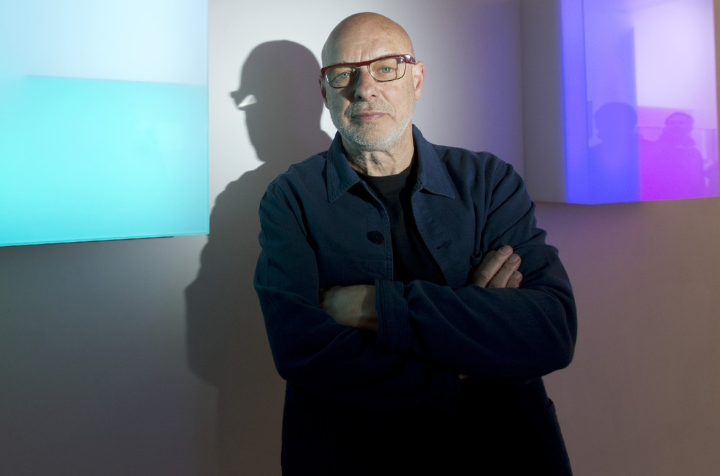 Brian Eno photographed in 2016