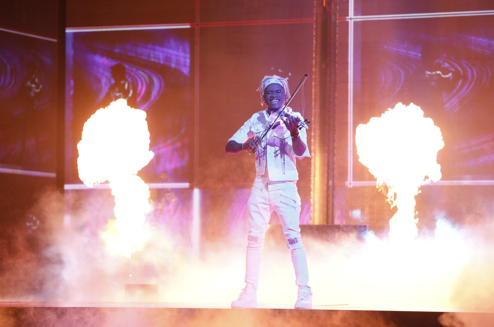 """Brian King Joseph performs during the """"Live Finale"""" of """"America's Got Talent"""" Series 13"""