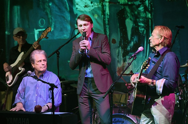 """Brian Wilson, Paul Dano and Al Jardine perform at Roadside Attraction's """"Love and Mercy"""" DVD release"""