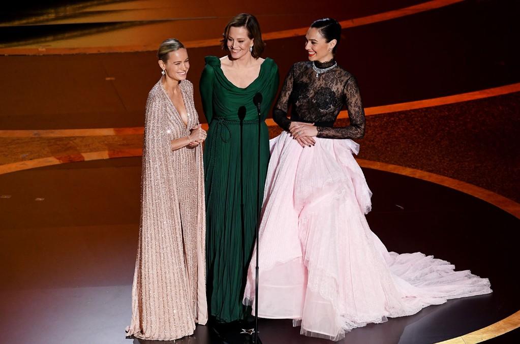 Brie Larson, Sigourney Weaver and Gal Gadot