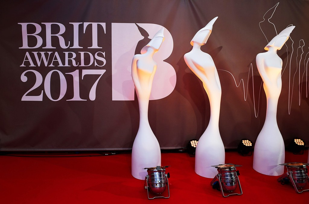 General atmosphere at the 2017 Brit Awards at the O2 Arena in London.