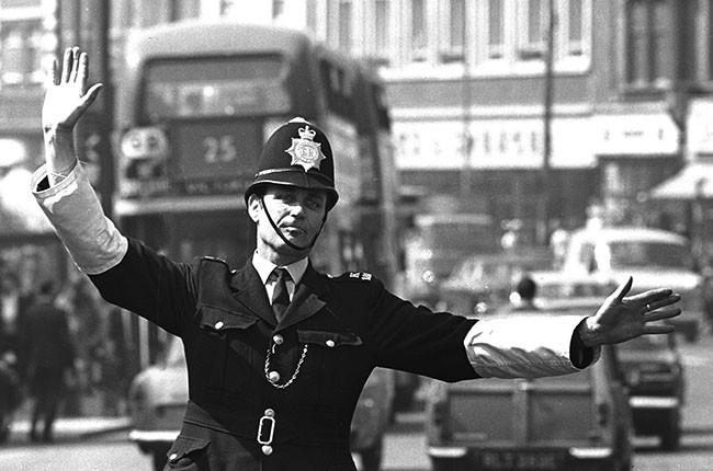 British traffic cop