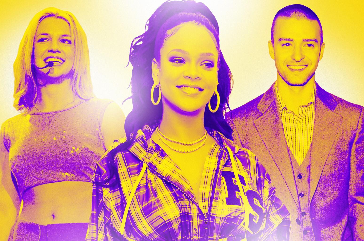 Britney Spears, Rihanna & Justin Timberlake