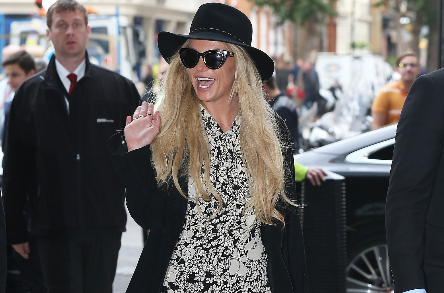 Britney Spears seen at BBC Radio One