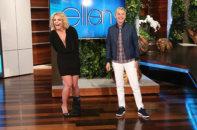Britney Spears and Ellen DeGeneres