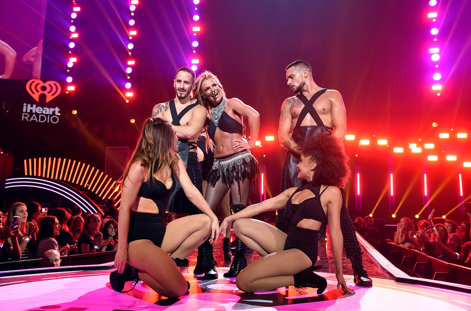 Britney Spears performs at the 2016 iHeartRadio Music Festival at T-Mobile Arena on Sept. 24, 2016 in Las Vegas.