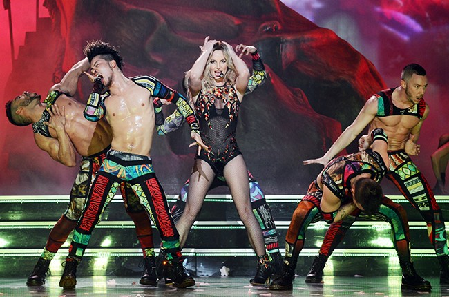 Britney Spears performs in Las Vegas