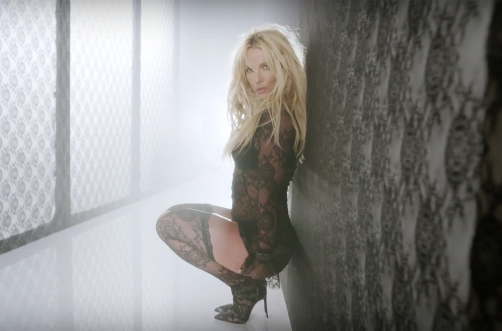 "Britney Spears in the video for ""Make Me..."""