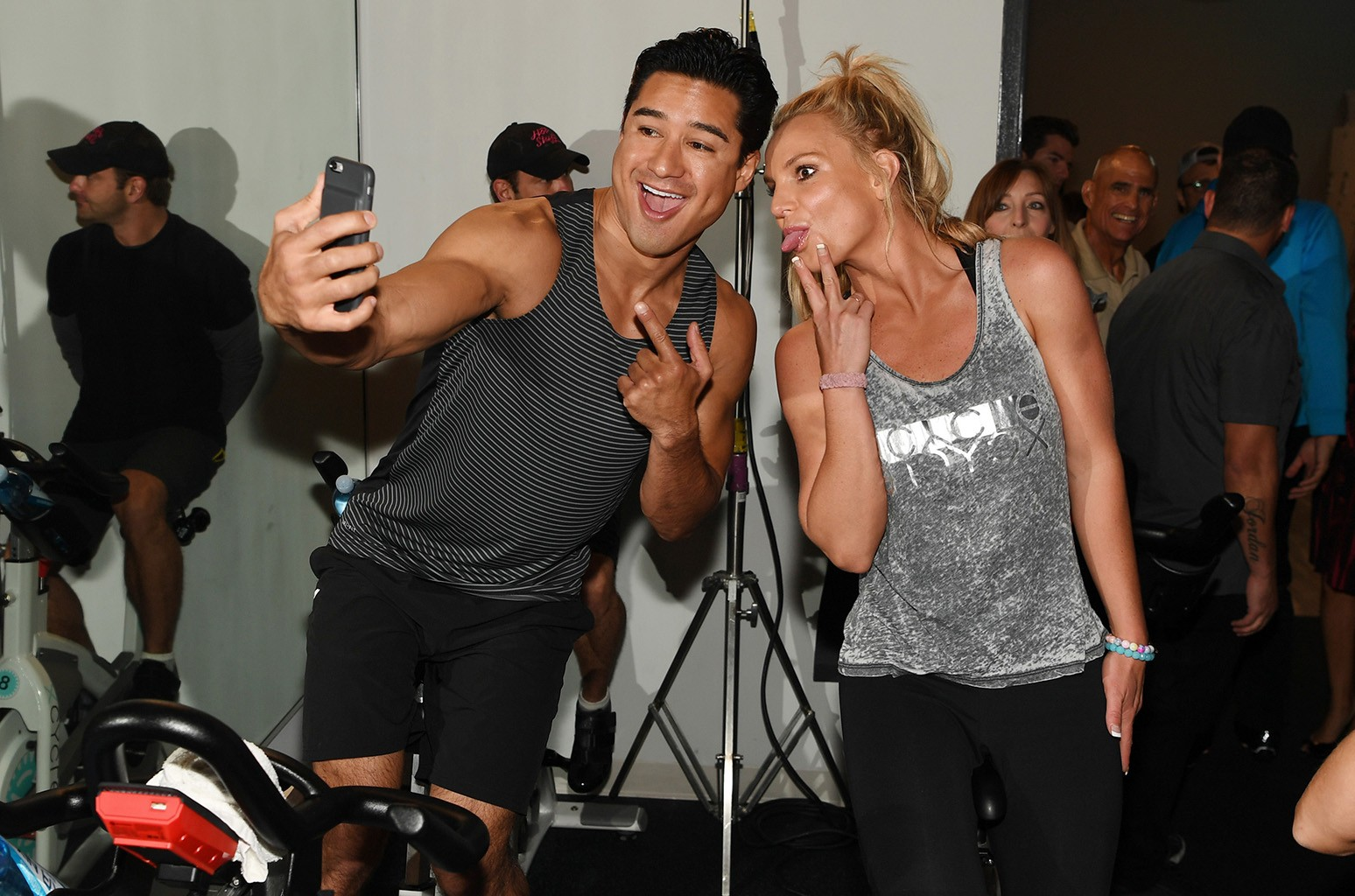 Mario Lopez and Britney Spears