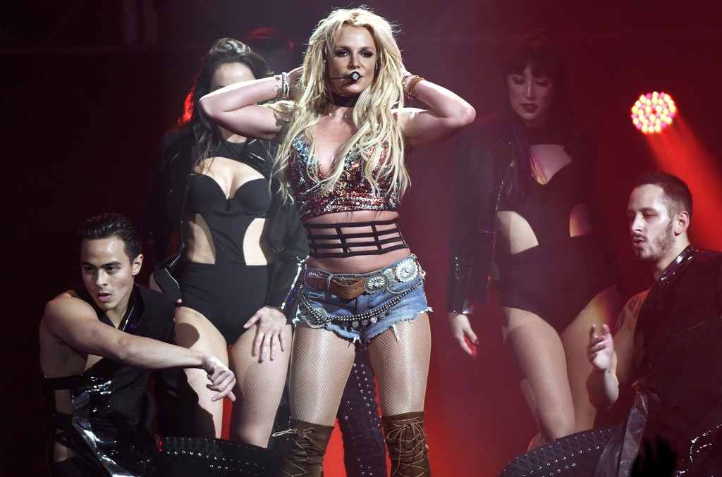Britney Spears performs during Now! 99.7 Triple Ho Show 7.0 at SAP Center on Dec. 3, 2016 in San Jose, Calif.