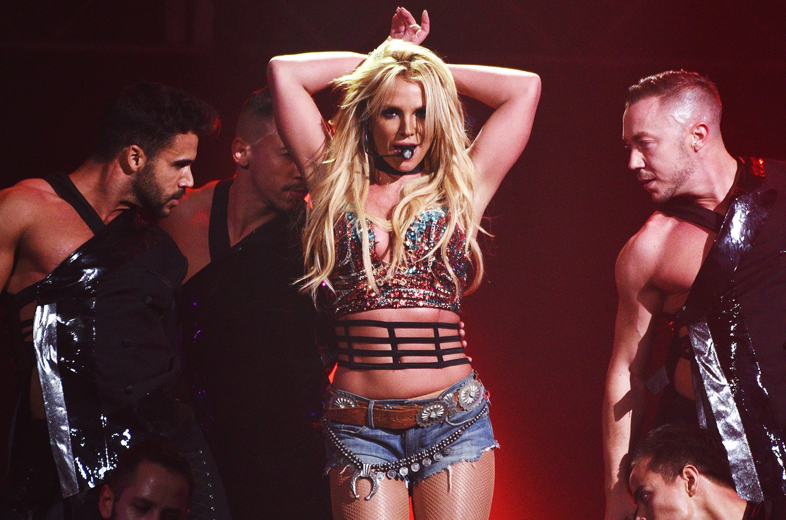 Britney Spears performs during the Now! 99.7 Triple Ho Show 7.0 at SAP Center on Dec. 3, 2016 in San Jose, Calif.
