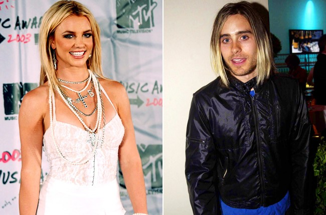 Britney Spears and Jared Leto, 2003.