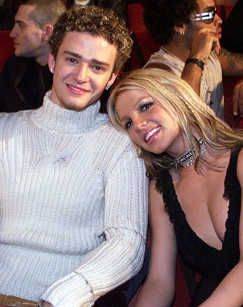 Britney Spears and Justin Timberlake, 2001.