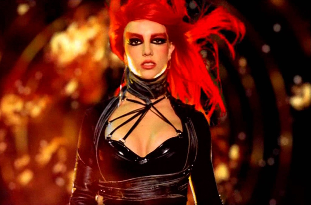 "Britney Spears in the video for ""Toxic."""