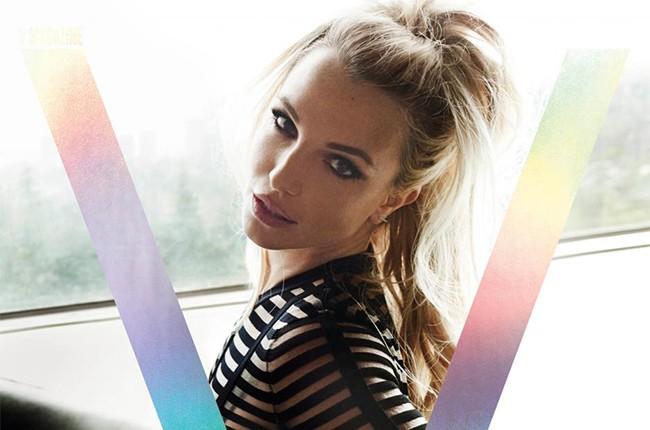 Britney Spears covers V magazine's V100 issue in 2016.