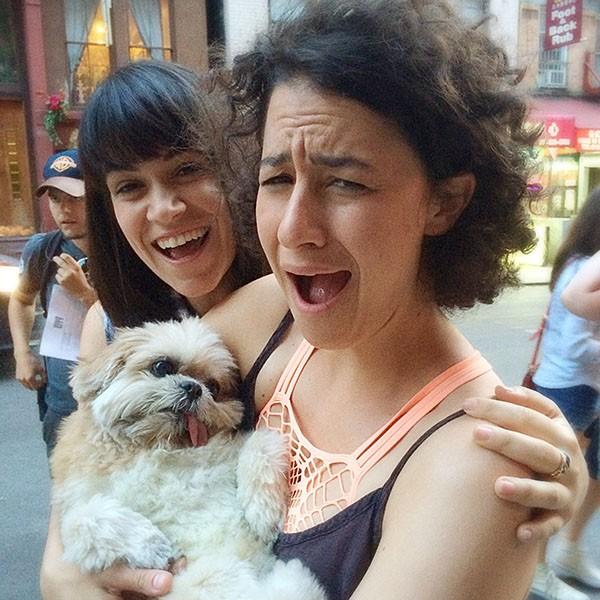 Marnie the Dog with Abbi Jacobson and Ilana Glazer, 2014.