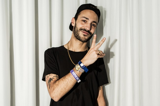 Brodinski poses for a portrait following his interview in the Red Bull Music Academy pop-up radio station, at Red Bull Guest House in Miami
