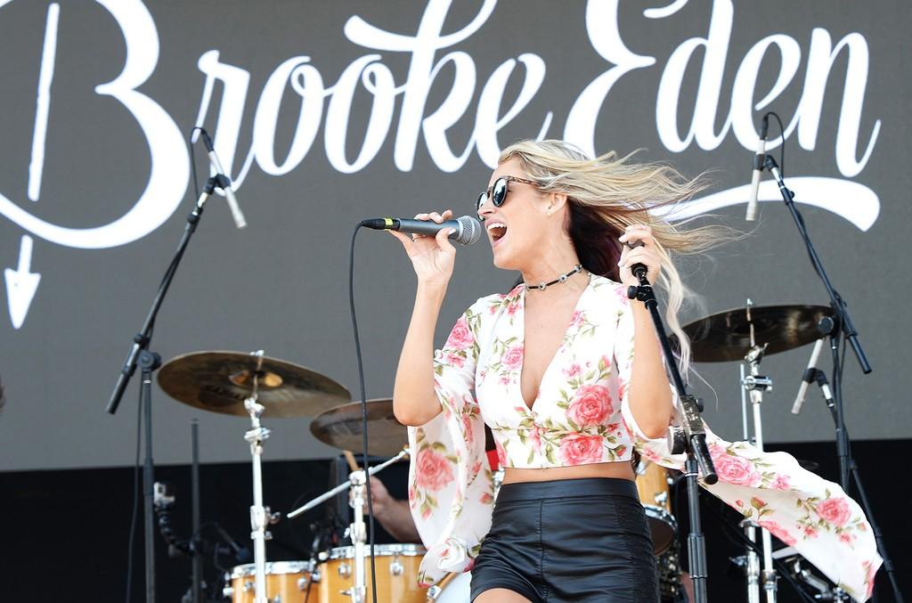 Brooke Eden performs onstage during the 2016 Billboard Hot 100 Festival