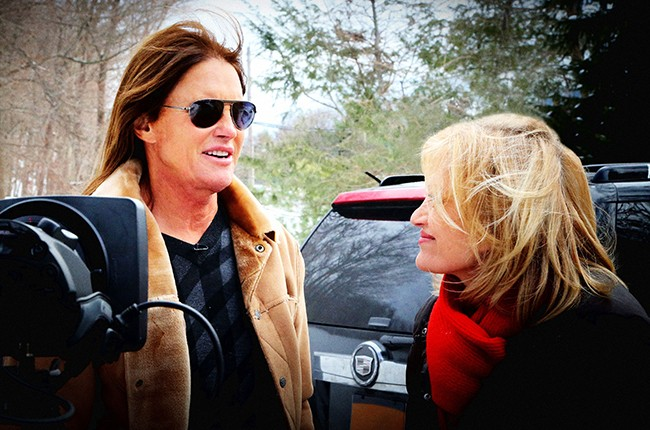 Bruce Jenner and Diane Sawyer trans interview on ABC airing on April 24, 2015.