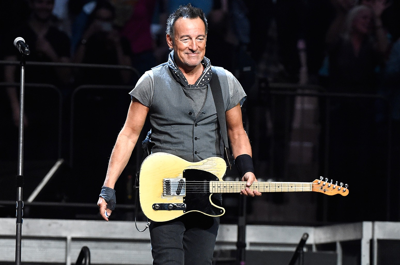Bruce Springsteen performs with The E Street Band