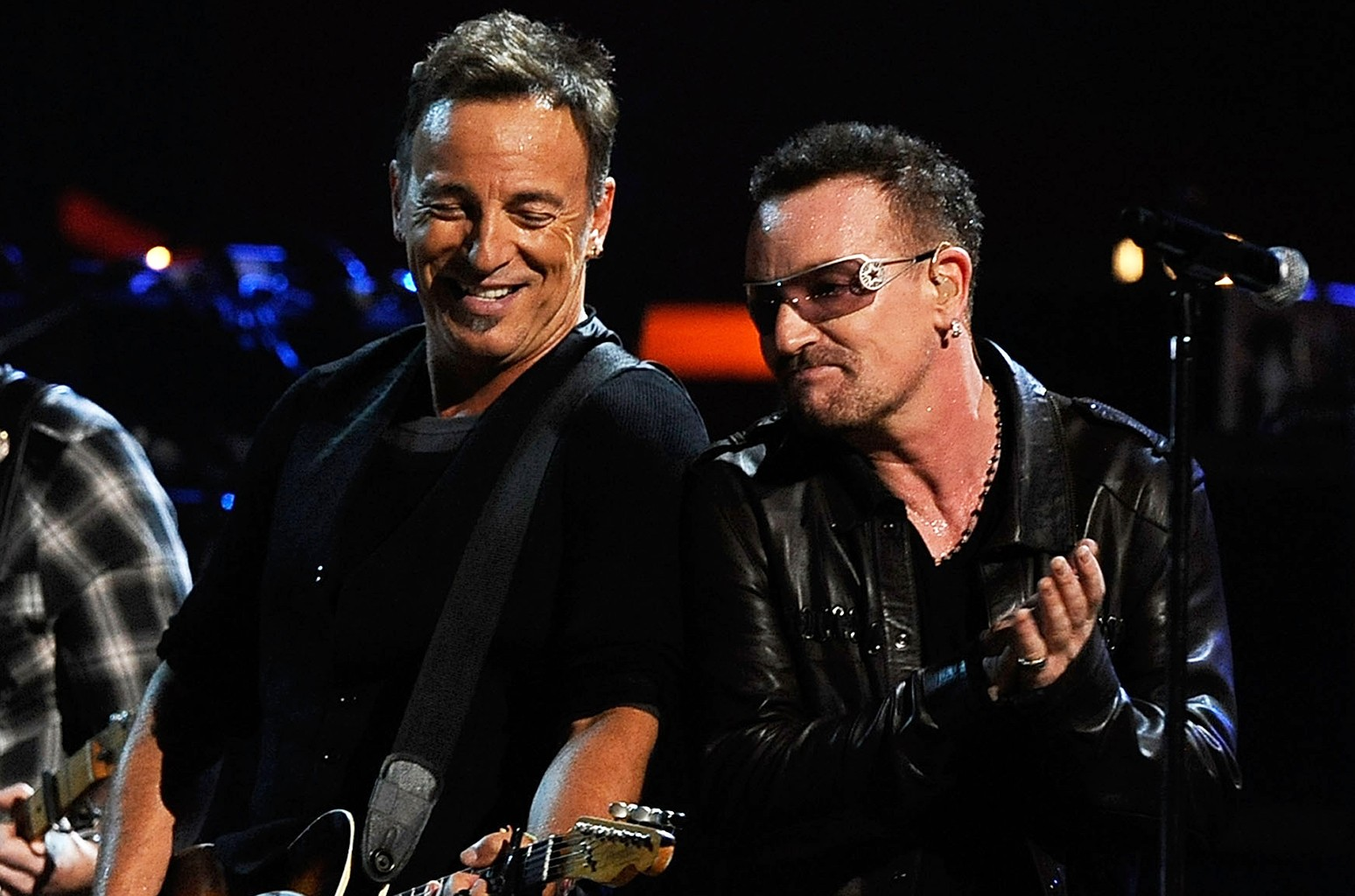 Bruce Springsteen and Bono perform at Madison Square Garden