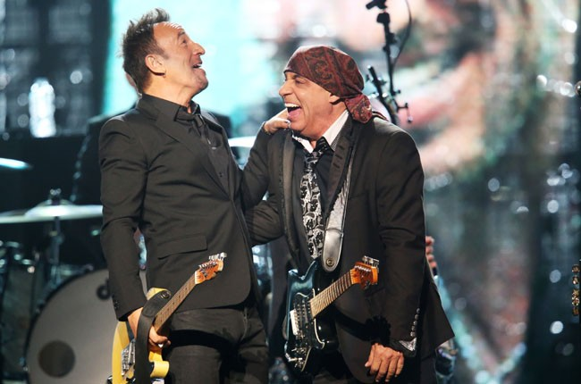 Bruce Springsteen and E Street Band perform at the 2014 Rock And Roll Hall Of Fame Induction Ceremony