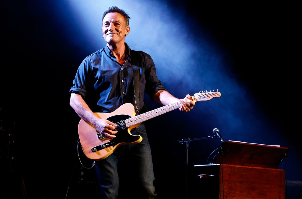 Bruce Springsteen performs at Madison Square Garden in New York City.