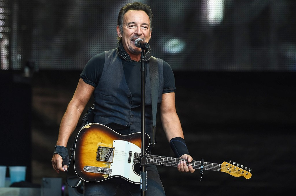 Bruce Springsteen performs at Wembley Stadium