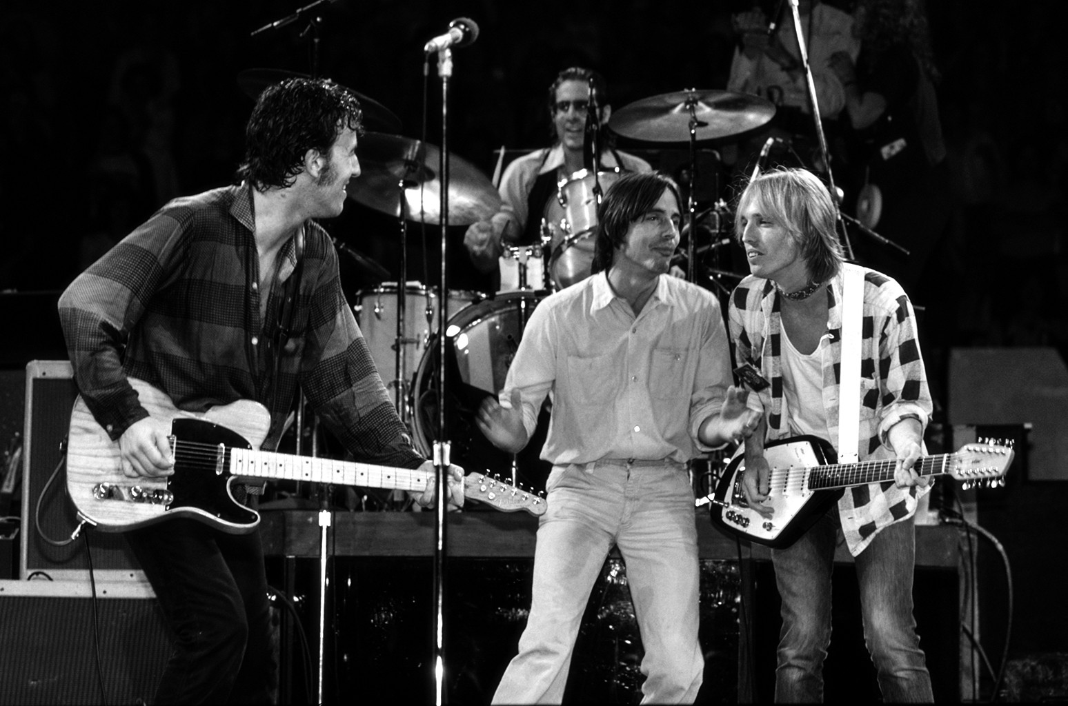 Bruce Springsteen, Jackson Browne, and Tom Petty