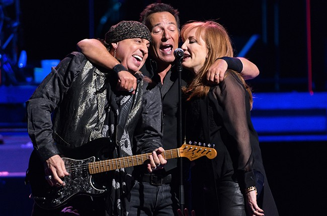 Steven Van Zandt, Bruce Springsteen and Patti Scialfa