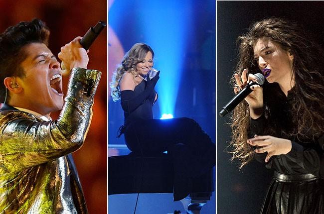 Bruno Mars, Mariah Carey, Lorde
