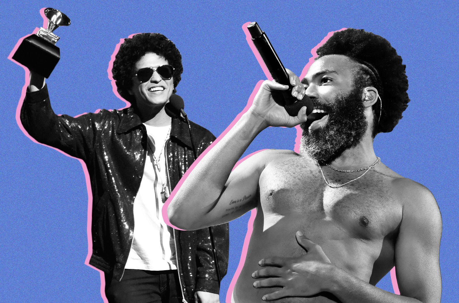 Bruno Mars and Childish Gambino