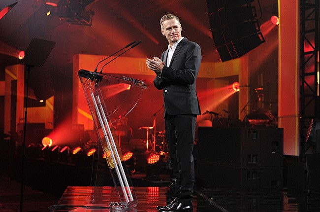 Bryan Adams at the 2015 Broadcast Industry Awards.