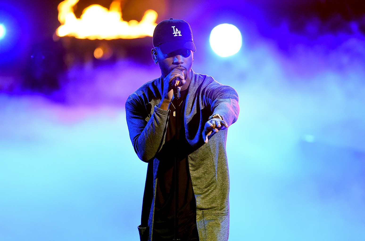 Bryson Tiller performs onstage during the 2016 BET Awards at the Microsoft Theater on June 26, 2016 in Los Angeles.