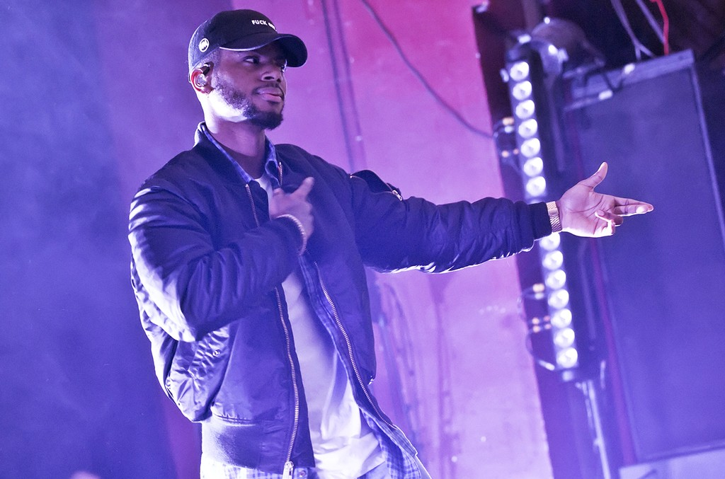 Bryson Tiller performs in 2016