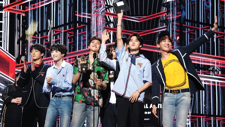 <p>BTS accepted the top social artist honor at the 2018 Billboard Music Awards in Las Vegas.</p>