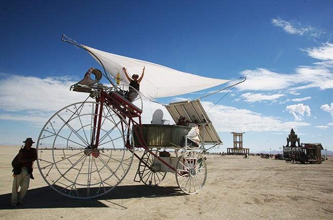 Burning Man in Black Rock City, Nevada on August 31, 2007
