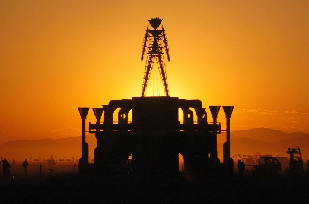 Burning Man in Black Rock Desert, Nevada