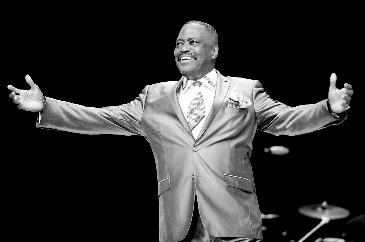 Cuba Gooding, Sr. of The Main Ingredient performs at Chastain Park Amphitheater on July 10, 2013 in Atlanta.